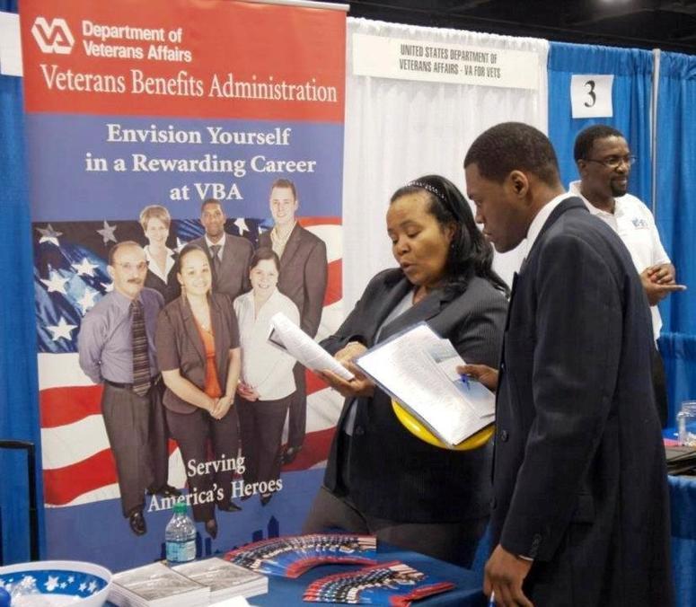 Participants during a previous jobs fair hosted by Congressman David Scott.