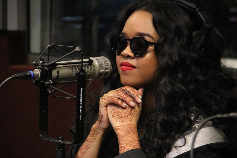 H.E.R. visits V-103 Atlanta's Frank and Wanda In The Morning on November 9, 2018