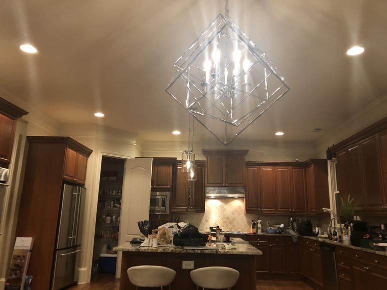 Ramoma DeBreaux's chandelier