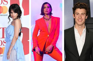 Camila Cabello Dua Lipa Shawn Mendes