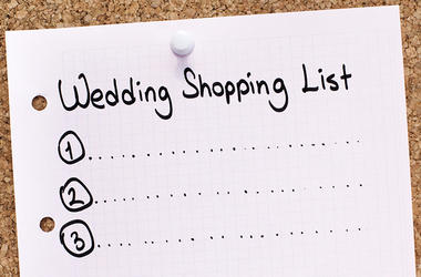 Wedding Shopping List