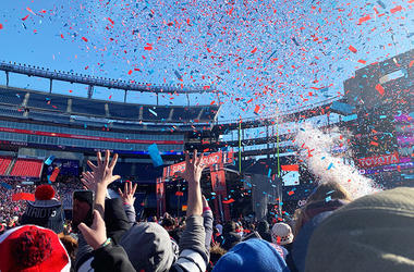 Patriots Sendoff Rally
