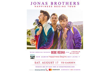 Jonas Brother's Happiness Begins Tour Poster