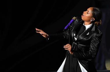 Jennifer Hudson performs during the 91st Academy Awards at the Dolby Theatre.