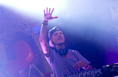 NEW YORK, NY - OCTOBER 01: Avicii performs at the MLB Fan Cave on October 1, 2013 in New York City.