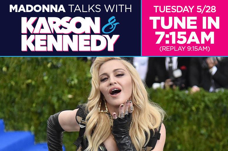 Madonna Talks With Karson & Kennedy