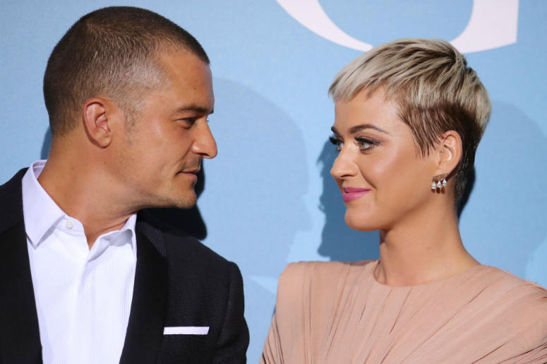 Katy Perry and Orlando Bloom attend the Gala for the Global Ocean