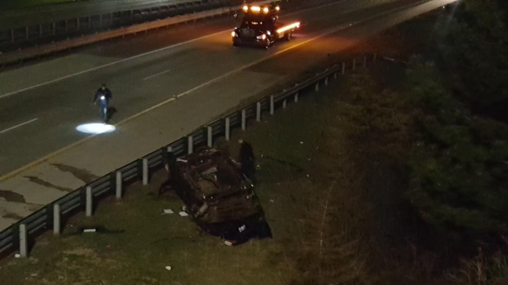 Rollover Crash Stalls Traffic Along I-275 Ramp To I-96 | WWJ