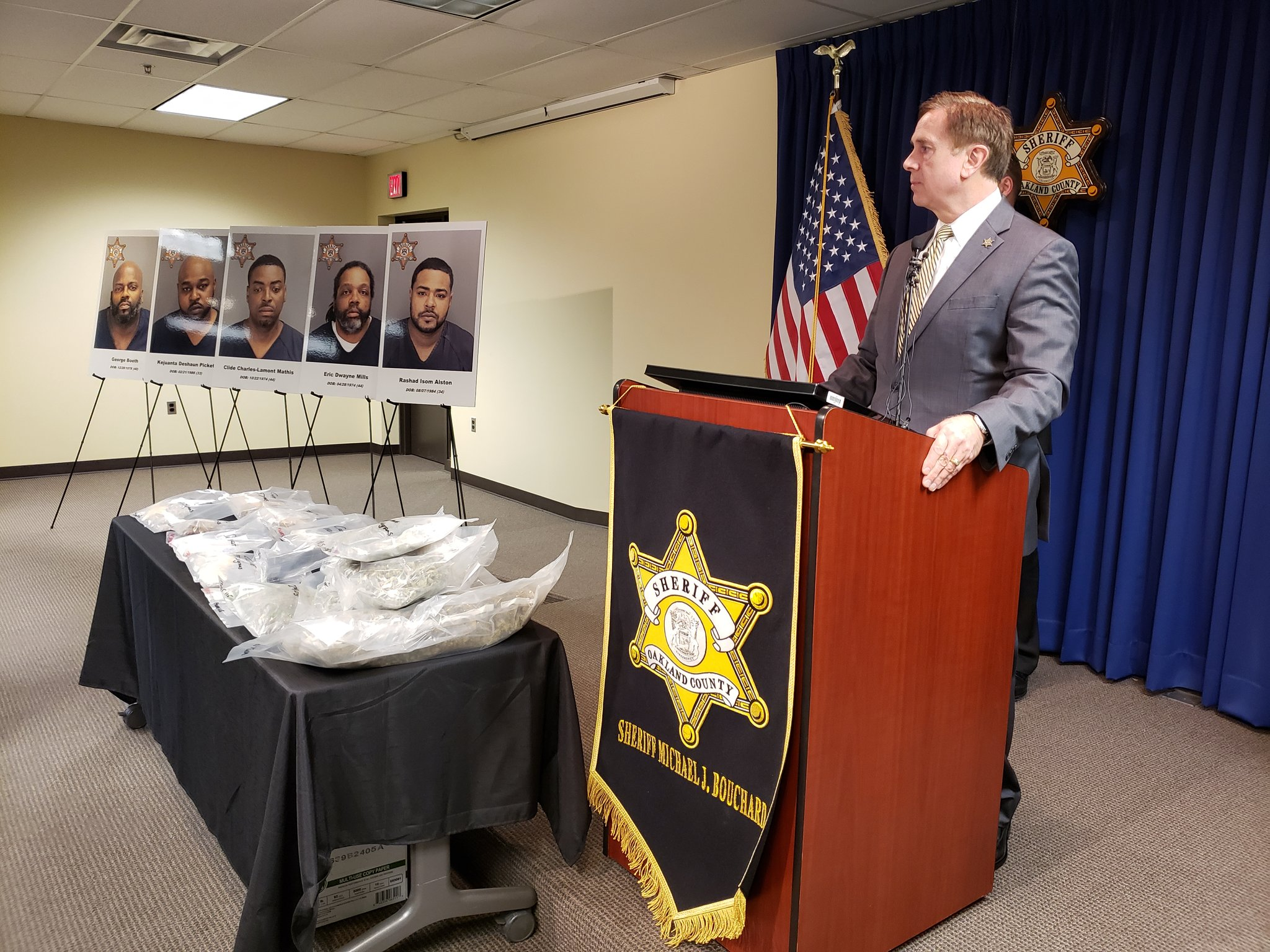 5 Arrested, Charged In Oakland County Drug Trafficking Bust