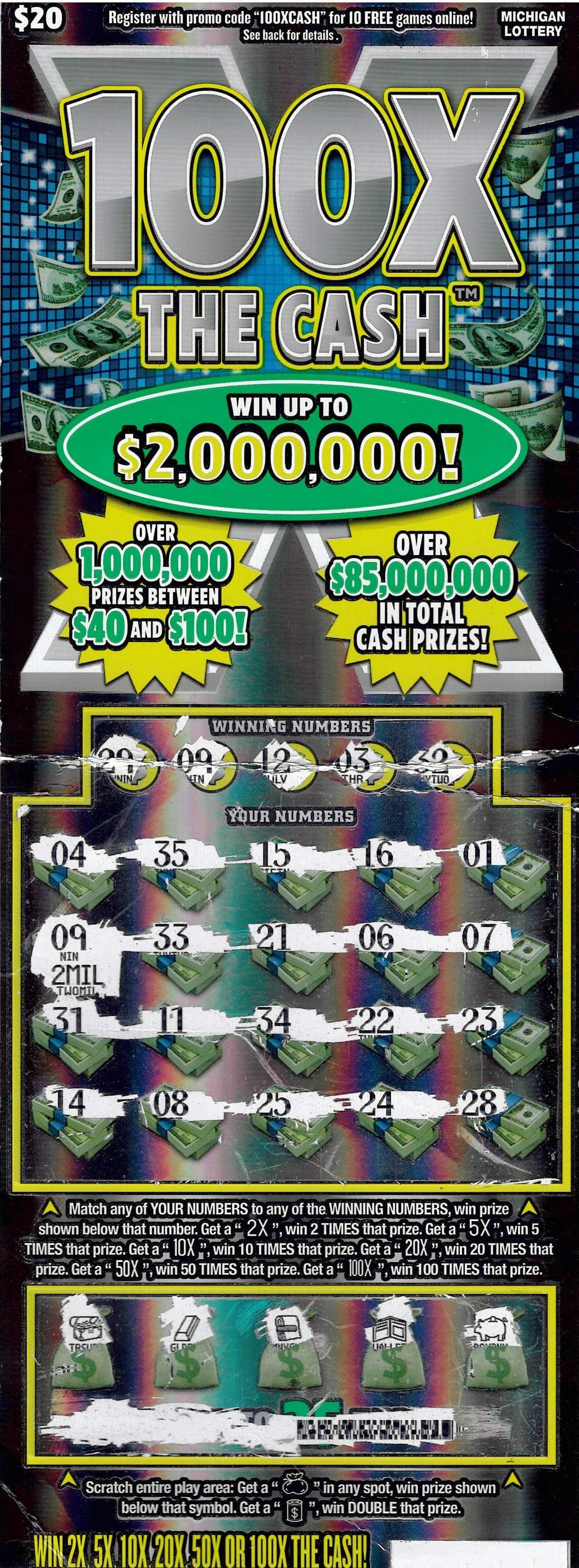 Michigan Man Wins $2 Million On Scratch-Off Lottery Ticket