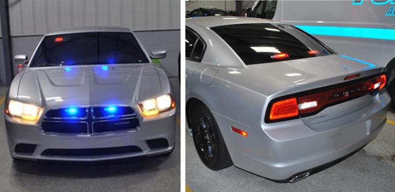 cop impersonator car