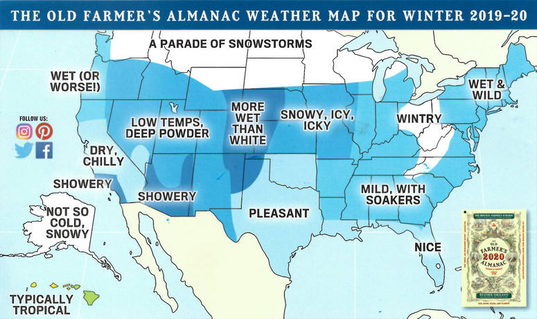 Get Ready For Shivers, Snowflakes And Slush: Farmer's Almanac