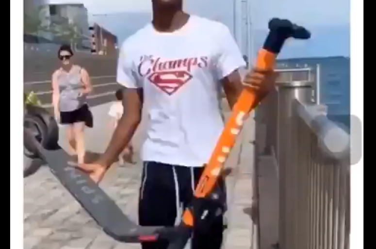 Vandals Throw Scooters In Detroit River, Damage Property In Videos Posted Online
