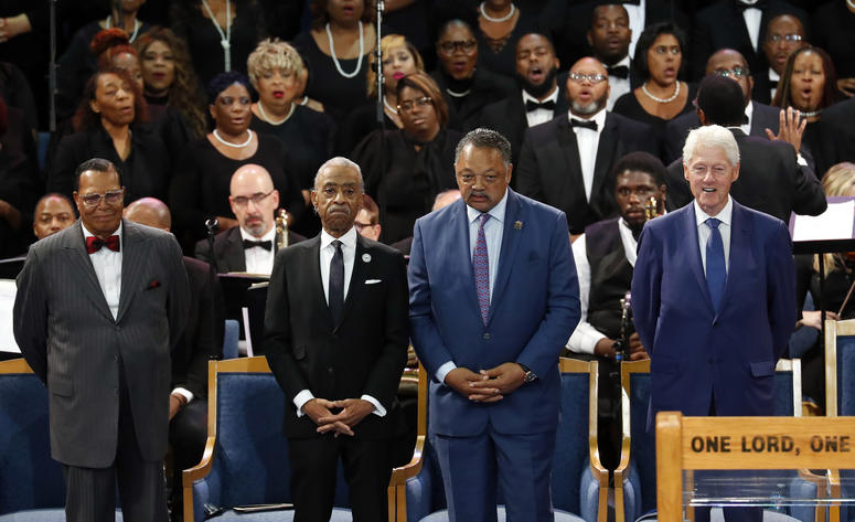 Aretha Franklin funeral guests