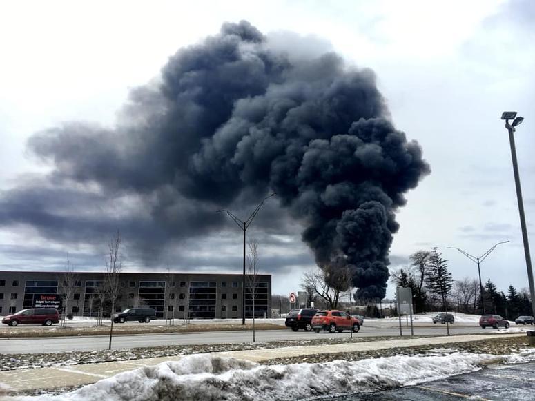 Massive Fire In Auburn Hills