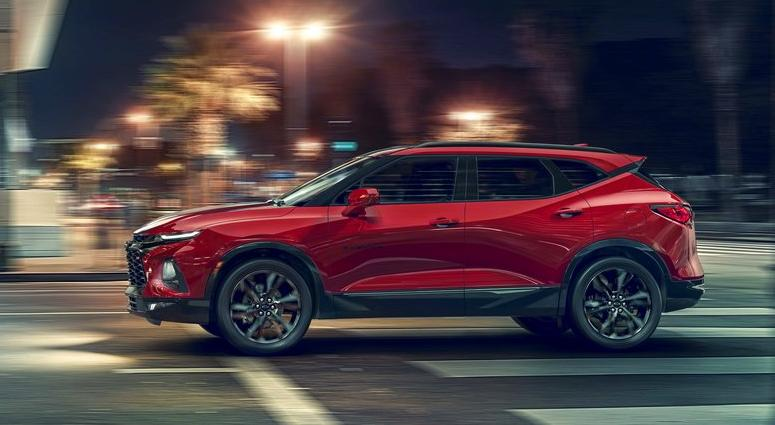 This undated photo provided by General Motors shows the Chevrolet Blazer. GM on Thursday, June 21, 2018, unveiled the sculpted Blazer in Atlanta.