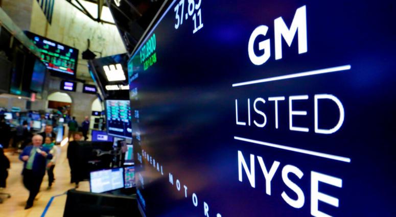 General Motors on stock exchange