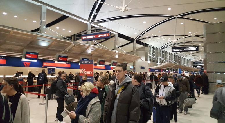 metro airport travelers