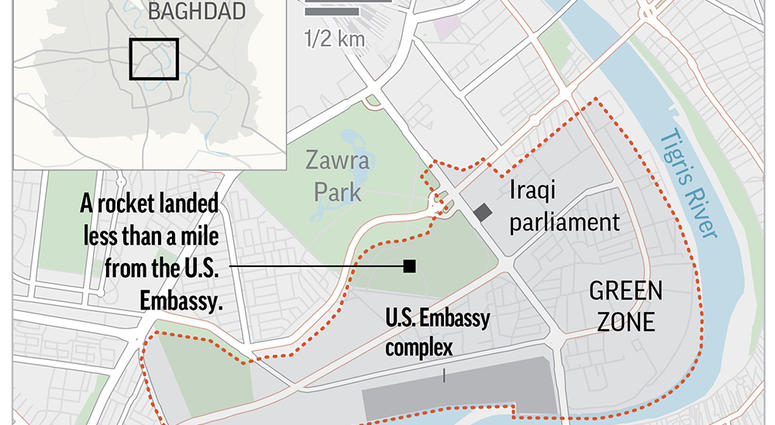 Rocket Attack Hits Near US Embassy In Baghdad\'s Green Zone | WWJ ...