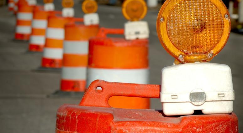 road work barrel