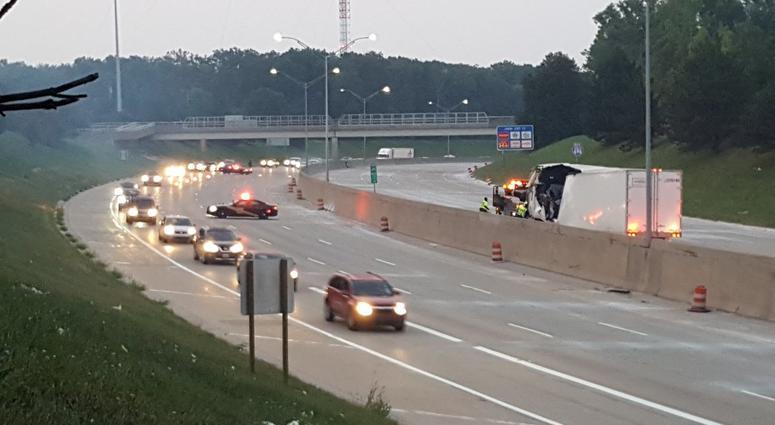 Semi Truck Driver Loses Control, Crashes On I-696 In Southfield