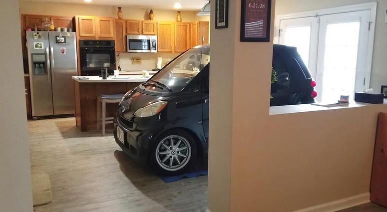 smart car in kitchen