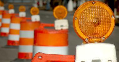 construction barrel road work