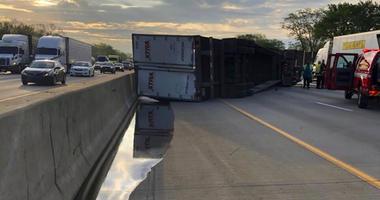 honey Indiana interstate spill