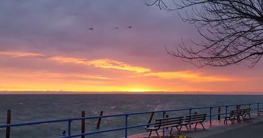 lake st clair sunrise