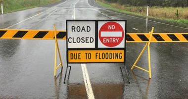road closed flood
