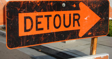 road work detour