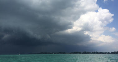 storm over the lake