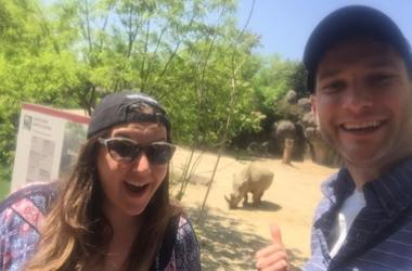 Reagan and Bethany Maryland Zoo Visit