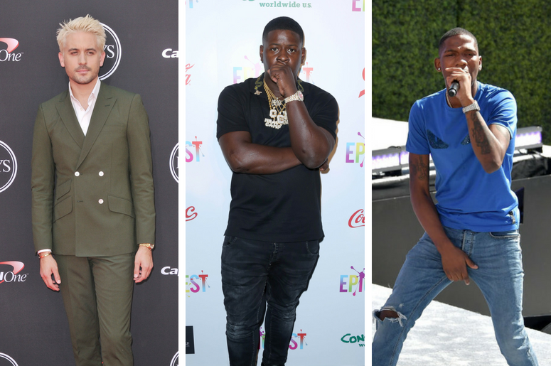 G-Eazy arrives at The 2018 ESPYS held at the Microsoft Theater in Los Angeles, CA / Blac Youngsta arrives at EpicFest. / BlocBoy JB performs onstage at Live! Red! Ready! Pre-Show, sponsored by Nissan, at the 2018 BET Awards at Microsoft Theater on June 24