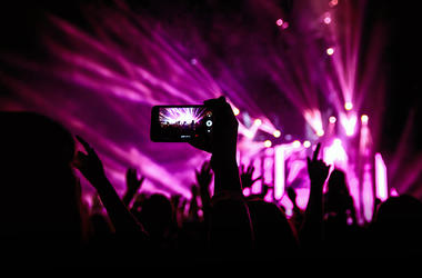 Cell Phone At Concert