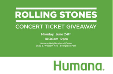 Rolling Stones Ticket Giveaway Sponsored by Humana