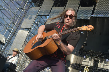 NEW YORK, NY - JULY 01: Brian Ritchie of Violent Femmes performs at JBL Live at Pier 97 on July 1, 2015 in New York City. (Photo by Theo Wargo/Getty Images)