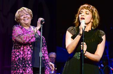 Mavis Staples and Norah Jones perform live in concert.