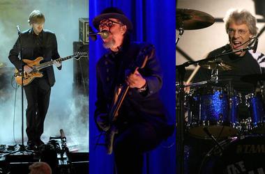 Trey Anastasio, Les Claypool, and Stewart Copeland of the rock supergroup Oysterhead.