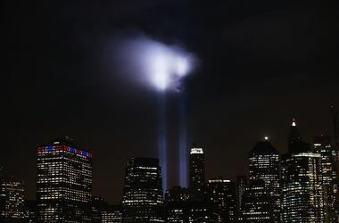 September 11th tribute lights in New York City