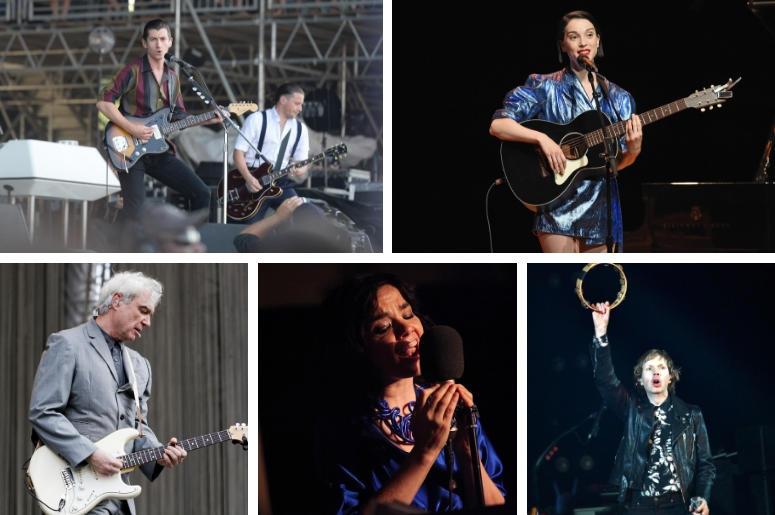 Arctic Monkeys, St. Vincent, Beck, Bjork, David Byrne