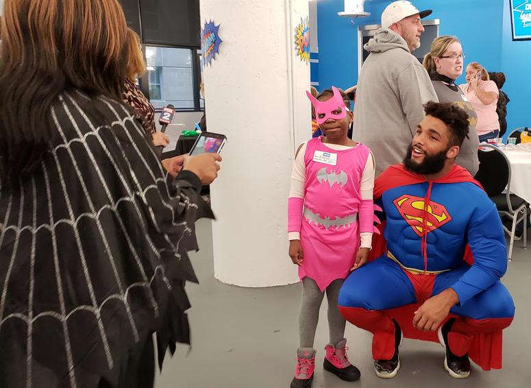 4c87c35b Detroit Lions, Kids Kicking Cancer Host Superhero Ball At Ford Field ...