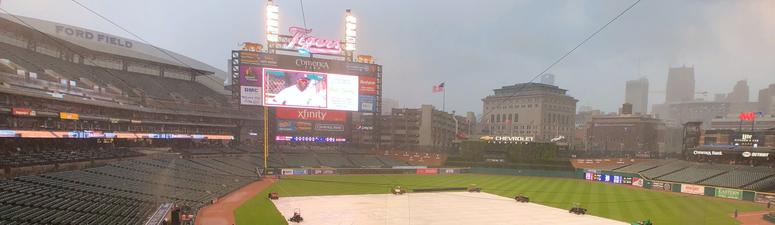 Tigers-A's Game Suspended In 7th, To Resume In Oakland On Sept. 6