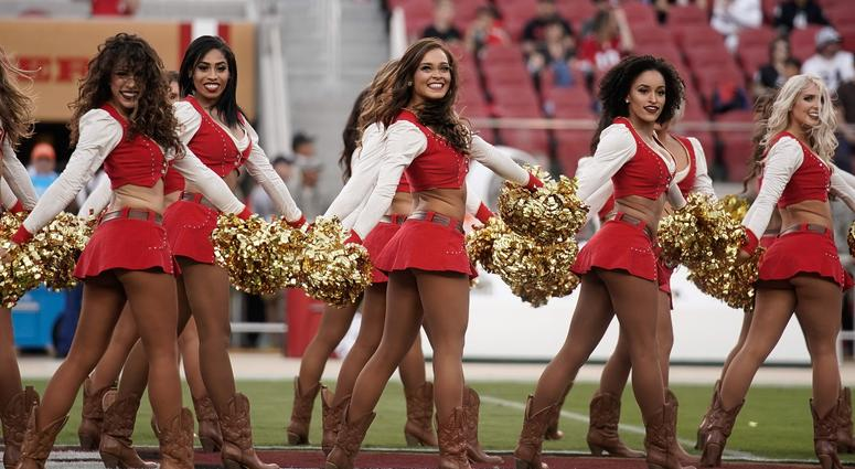 771c3b0d7d6 49ers' Cheerleader Takes A Knee Before Monday Night Football [PHOTOS ...