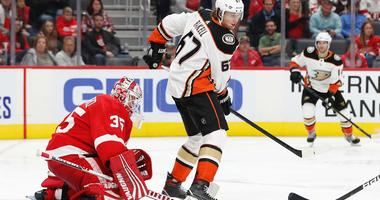 Ritchie Gets Key Goal, Ducks Beat Red Wings To Stay Unbeaten