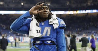 Dec 31, 2017; Detroit, MI, USA; Detroit Lions defensive end Ezekiel Ansah (94) salutes the crowd after the game against the Green Bay Packers at Ford Field.