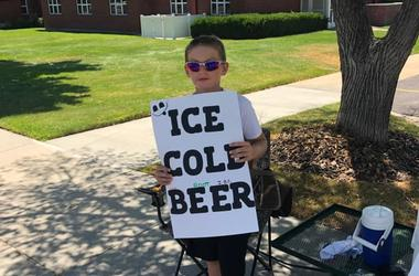 boy sells ice cold beer