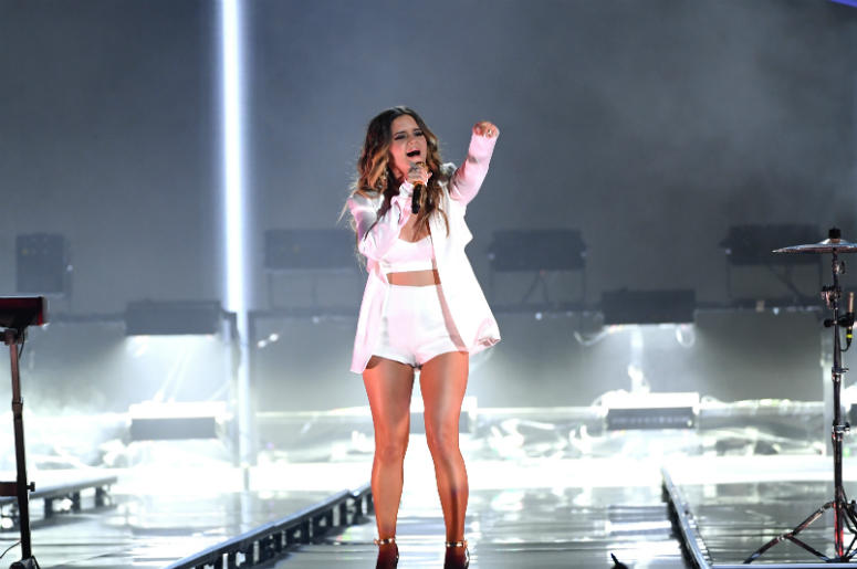 Maren Morris performs onstage during the 2018 Billboard Music Awards