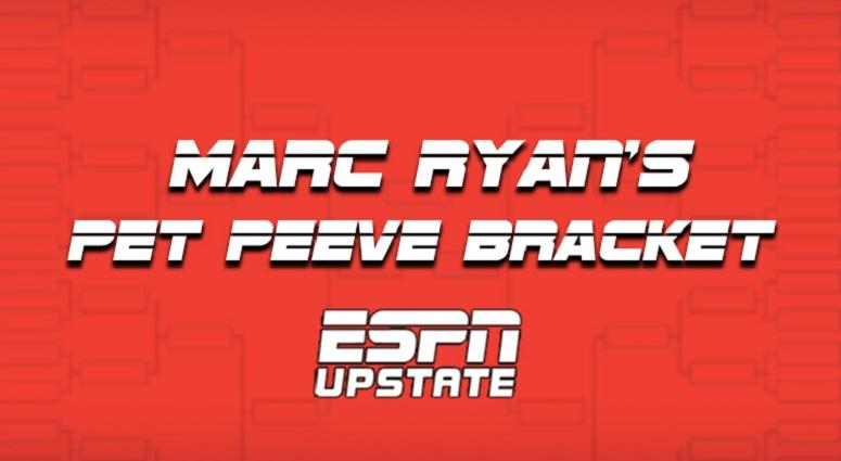 Marc Ryan's Pet Peeve Bracket
