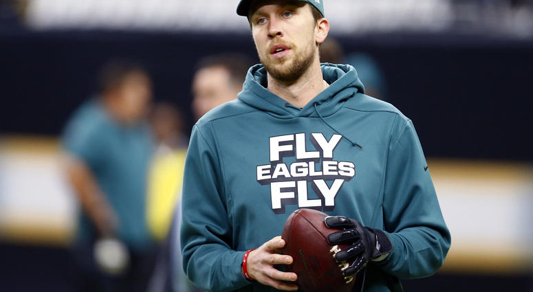 500cb17c336 13, 2019, file photo, Philadelphia Eagles quarterback Nick Foles warms up  before an NFL divisional playoff football game against the New Orleans  Saints in ...